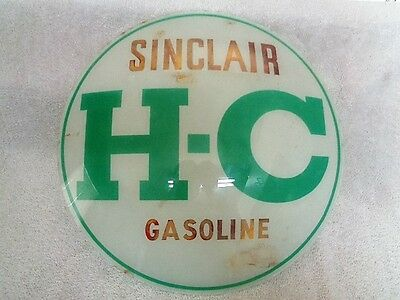 Vintage 1950's-60's Original Gas Pump Globe Glass Lense Sinclair H-C Gasoline