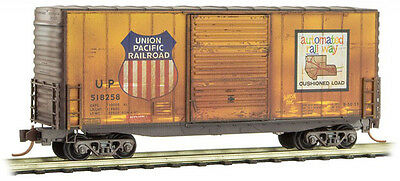 Micro-Trains MTL N-Scale 40ft Hy-Cube Box Car Union Pacific/UP Weathered #518258