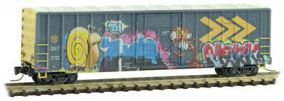 Micro-Trains MTL Z-Scale 50ft Box Car Ontario Northland/ON Monster Graffiti #2