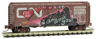 Micro-Trains MTL Z-Scale 40ft Box Car Canadian National/CN Valentine Graffiti