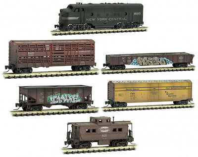Micro-Trains MTL Z-Scale New York Central/NYC Weathered/Graffiti Train Set