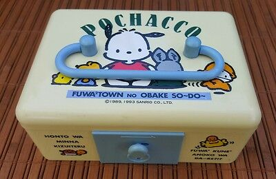 Vintage 1993 Sanrio Pochacco Safe Lock Box w/ Ornate Keys ~ Made in Japan ~ RARE