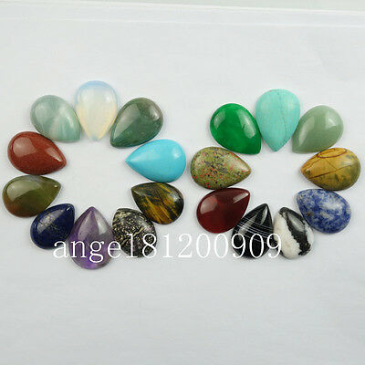 1/3Pcs 33x22x7mm Beautiful Mixed Gemstone Teardrop CAB CABOCHON (Randomly send)