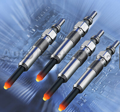 Set Of 4 Glow Plugs Alfa Mito, Fiat 500, Doblo, Idea, Panda, Punto 1.3D (Heater)
