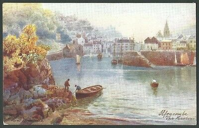 Ilfracombe Devon The Harbour 1906 Tuck Wimbush Artist Drawn Postcard