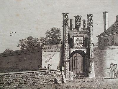 ENGRAVING CARDINAL WOLSEY'S COLLEGE IPSWICH SUFFOLK Engraved by Noble c1780