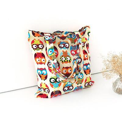 Cute Owl Women Shopper Tote Canvas Capacity Handbag Shopping Shoulder Bag