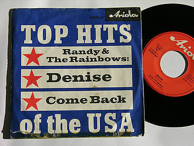RANDY & THE RAINBOWS * Denise * German Ariola BEAT 1963 Vinyl Single 7""