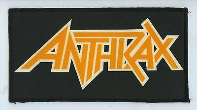 Anthrax 1980s Vintage & Rare Official Logo Patch Scott Ian
