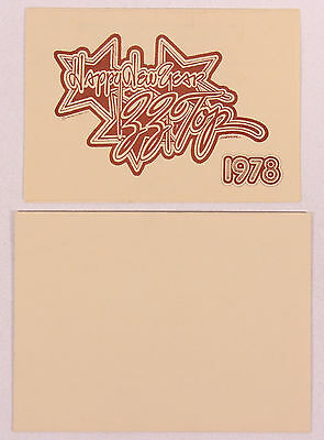 ZZ Top 1977 'Happy New Year' Dallas Party Invitation