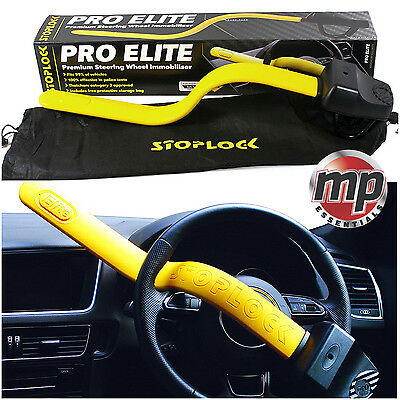 Stoplock Pro Elite Yellow Anti Theft Security Steering Wheel Lock to fit Audi A6