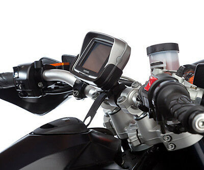 Motorcycle Handlebar Locking Strap Mount and Dedicated Holder for TomTom Rider