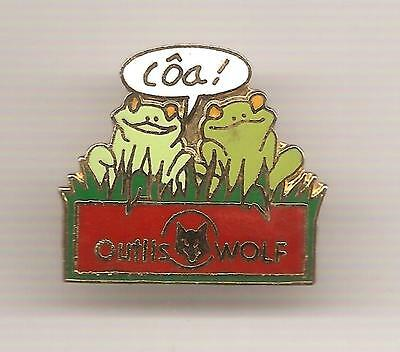 Pin's pin GRENOUILLE FROG OUTILS WOLF (ref L0708)