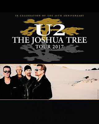 U2 - 2017 Joshua Tree Poster - 8x10 Color Photo