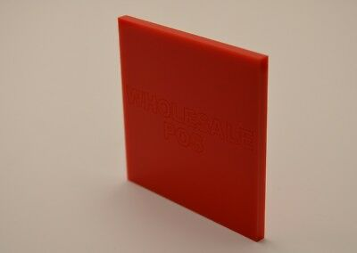 Red 440 Coloured Plastic Perspex 3mm Acrylic Sheet Custom Cut Panels Splashback