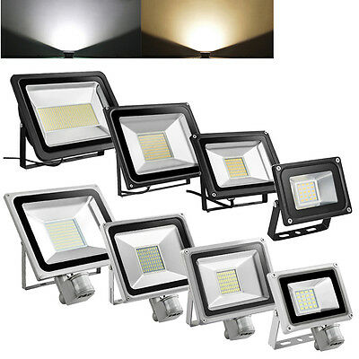500W 200W 100W 50W  20W LED PIR Flood Light Motion Sensor IP65 Outdoor Wall Lamp