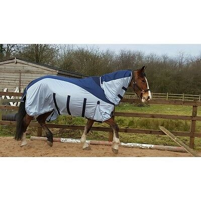 SHELDON ALL IN ONE horse / pony FLY RUG with WATERPROOF TOPLINE & FIXED NECK