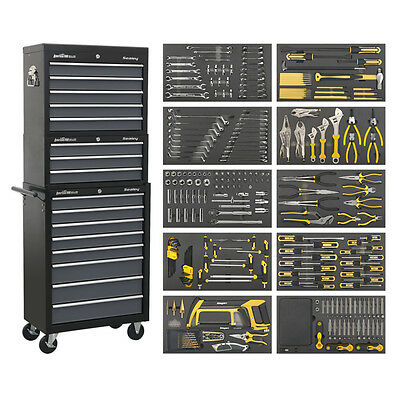 SEALEY AP35TBCOMBO | Tool Chest Combination 16 Drawer  420pc Tool Kit