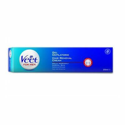 Veet For Men Silk & Fresh Technology Doccia 200 ml Crema depilatoria uomo NUOVA