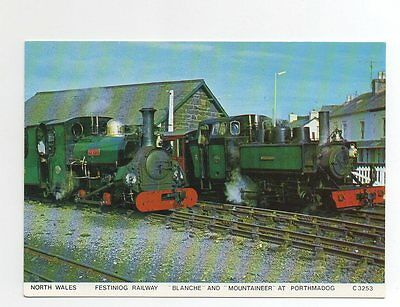 #I4 - North Wales Festiniog Railway Blanche and Mountaineer at Porthmad Postcard