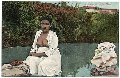 Early  PANAMA  A CHAGRES Night Mare   Central America   Postcard
