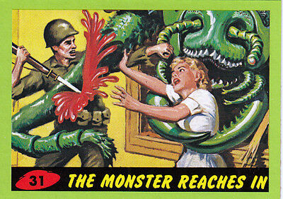 2012 Topps Mars Attacks Heritage Green Border Card #31 The Monster Reaches In