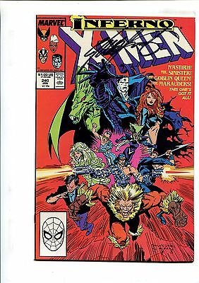 X-Men #240 - Signed By Chris Claremont! - (9.2) 1988