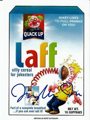 2017 Wacky Packages 50Th Anniversary Artist Autograph Junghwa Im Laff Life