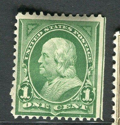 USA;  1890s early Presidential series issue Mint hinged 1c. value