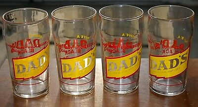 Vintage 1950's ACL Dad's Root Beer Soda Fountain Drinking Diner Glasses set of 4