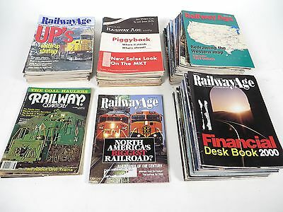 1959-2000 Railway Age Magazines Lot of 102 Vintage Model Train Railroad Books