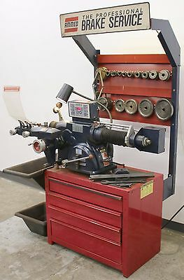 Ammco 4000E Electronic Disc & Drum Brake Lathe w/ Stand & 3-Jaw Chuck Tool Kit 2