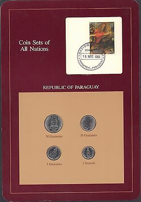 {BJSTAMPS} Coin Sets of All Nations Republic of Paraguay BU 1980-1986
