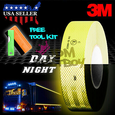 """3M 2""""x150' Diamond Grade Neon Yellow Conspicuity Tape Approved Reflective Safety"""