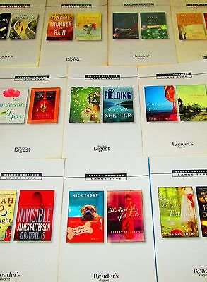 READER'S DIGEST Large Print  LoT of 10-SOFTCOVERS- Joy Fielding, Barbara Delinsk