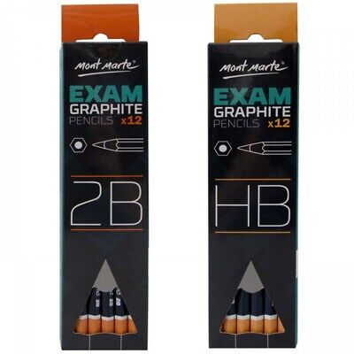Mont Marte Exam Graphite Pencil 12pce, School Office Study Test Essential- 2B