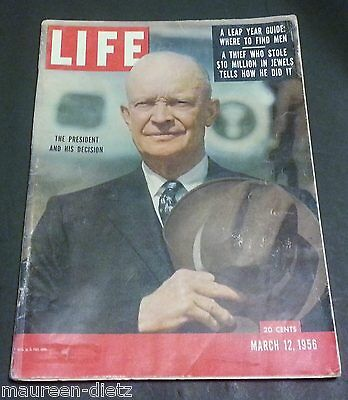 March 12, 1956 LIFE Magazine POPE PIUS XII, 50s Advertising ads FREE SHIPPING 3