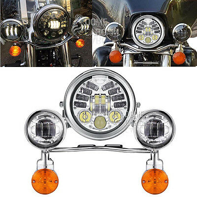 LED Headlight Turn Signal Passing Lights for Vulcan Classic Nomad Drifter 1500