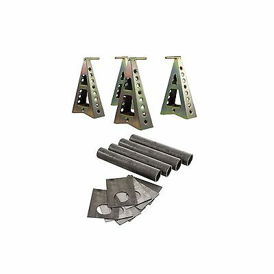 GRP4 Set of 4 WRC Sill Axle Stand With Tool Storage Tray &Sill Strengthening Kit