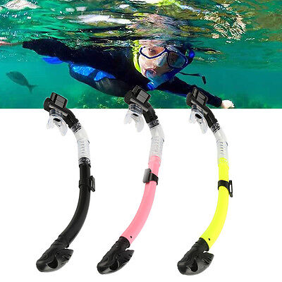 Soft Diving Full Dry Snorkel Swimming Snorkeling Scuba Tube Pipe Underwater EB
