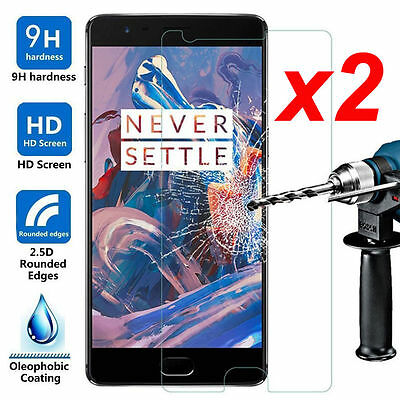 2x Premium Thin 9H Tempered Glass Screen Protector Film For Oneplus 3T 3 2 1