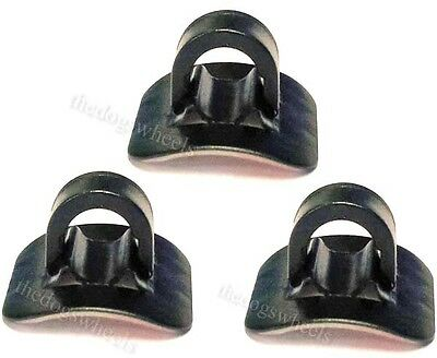 Stick On 3M Adhesive Cable Guide Guides MTB Bicycle Bike & C U Clips x 3