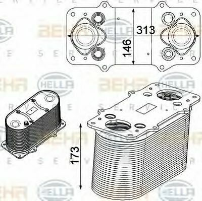 Hella AIR CON INTERCOOLER CHARGER 8ML376750-511 OE 51.09500-7148 51.09500-7169