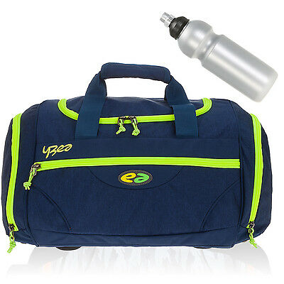 Sporttasche YZEA by TAKE IT EASY SPORTS Schultasche Tasche Bag 635 NIGHT+Flasche
