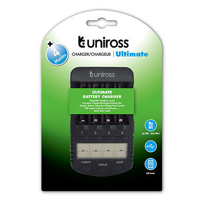 Uniross 1 Hour Ultimate Intelligent AA/AAA Smart battery charger
