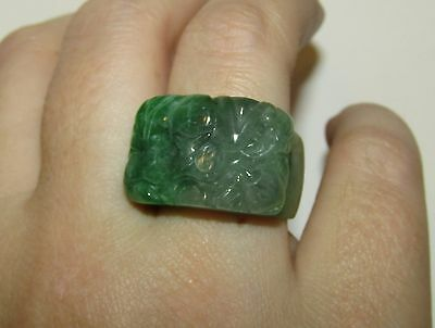 Superb, Antique, Chinese Natural Jade Carved Archer's Ring