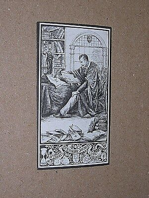 BOOKPLATE. circa 1910. THEODORE ANDREA COOK. BRITISH ART CRITIC & WRITER