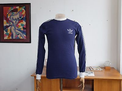 adidas Trikot Spielerhemd blau TRUE VINTAGE 70er sports shirt Made in Ireland
