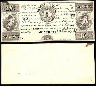 Canada QC-275-12-10 Rawdon, Wright, Hatch, Montreal Issue 30 Sous Proof AU