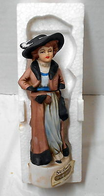 Ski Country Lady Of Leadville Colorado Brown Mini Decanter 1973 Bottle Foss Co.